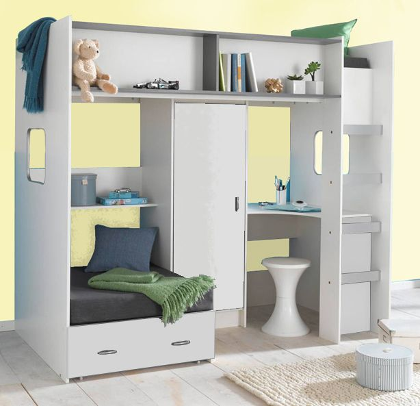 High Sleeper Loft Cabin Bed Colour Options Ideal Childrens